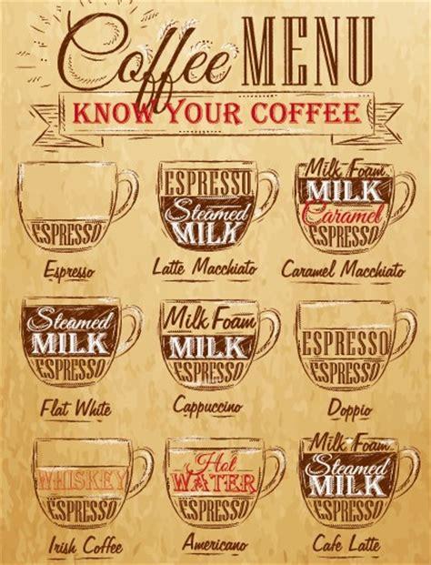 design menu coffee vintage coffee menu typographic design vector 05 vector
