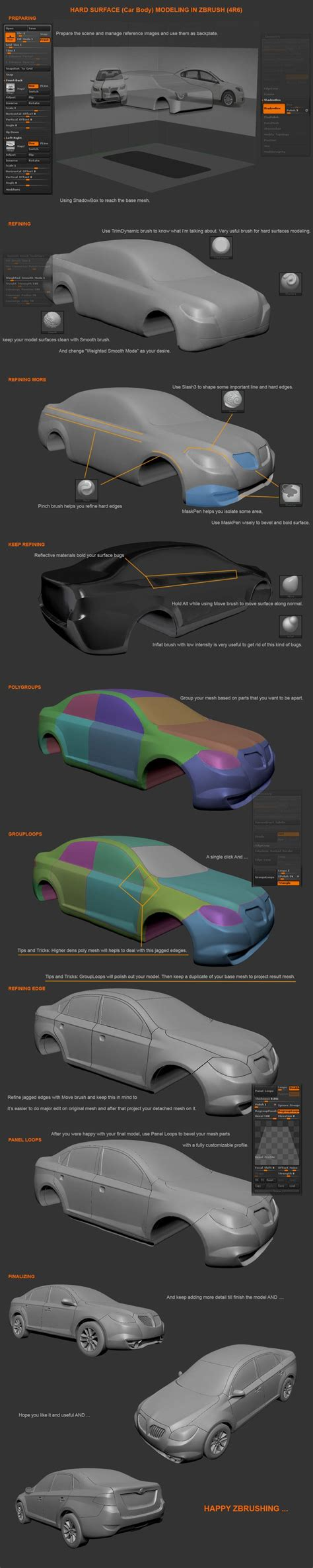 zbrush tutorial car 435 best images about zbrush on pinterest models
