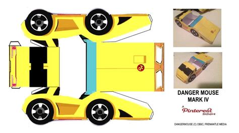 Papercrafts Co Uk - danger mouse iv danger car papercraft http www