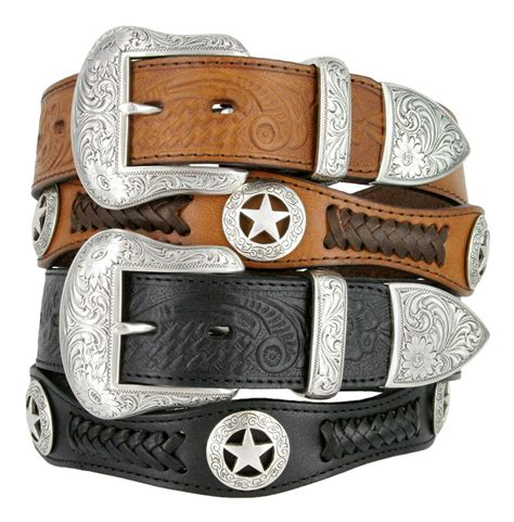 Is Cowhide Leather Real Leather - mens western embossed genuine cowhide leather