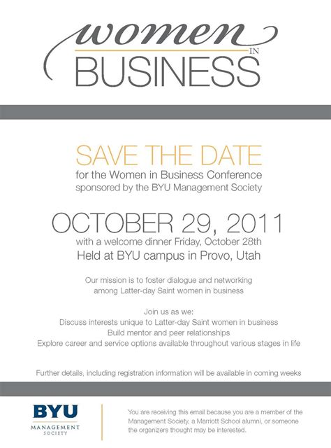 business save the date email template the snyder s july 2011