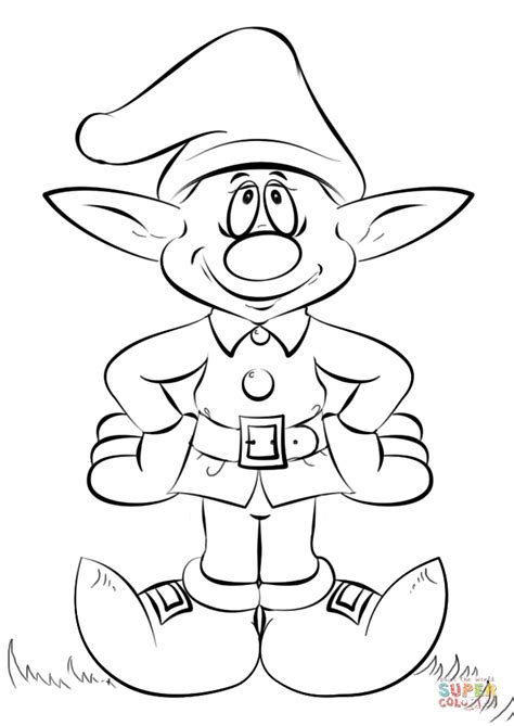 printable elf coloring picture christmas elf coloring page free printable coloring pages