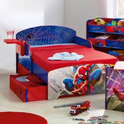 Boys room spiderman theme bed