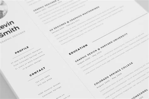 Free Clean And Minimal Resume Template Pixelify Best Free Fonts Mockups Templates And Vectors Minimalist Resume Template Free