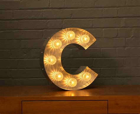 letter lights with bulbs light up marquee bulb letters c by goodwin goodwin
