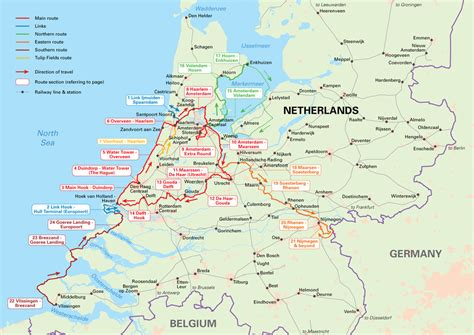 netherlands bicycle map niederlande karte routen