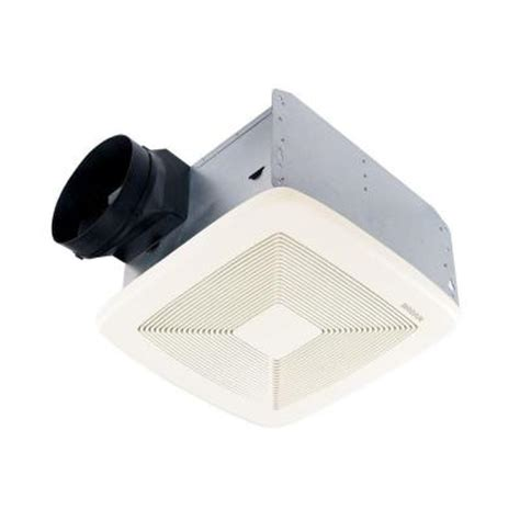 broan bathroom fan home depot broan qtx series ultra quiet 50 cfm ceiling exhaust bath