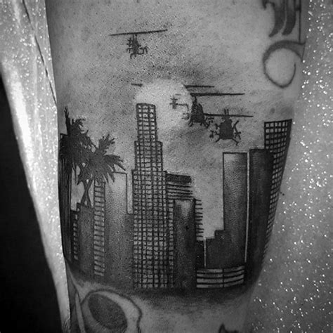la tattoo design 30 los angeles skyline designs for southern