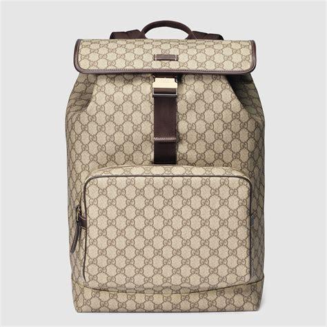 Garucci Bagpack Putih Kombinasi 2 gucci gg supreme backpack in brown for lyst