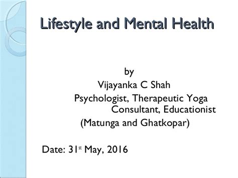 c section mental health lifestyle and mental health by ms vijayanka shah
