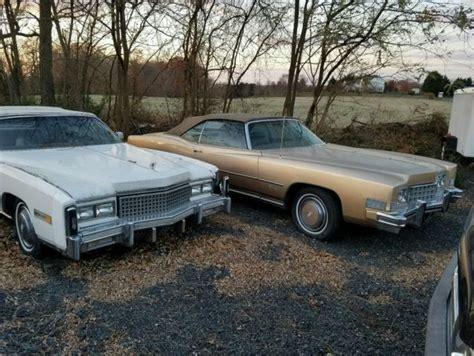 1972 and 1973 cadillac eldorado convertible parts cars