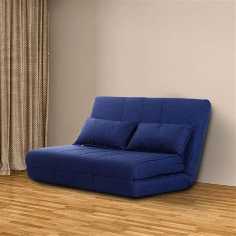 blue sofa sleeper blue sofa bed futon couch sleeper adjustable 2 seater