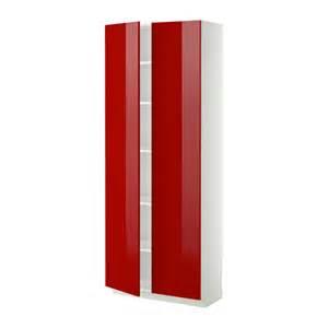 metod armoire avec tablettes blanc 80x37x200 cm