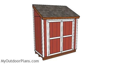 attached shed plans myoutdoorplans