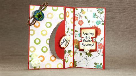 how to make flip cards happy easter swing card diy easter flip card tutorial