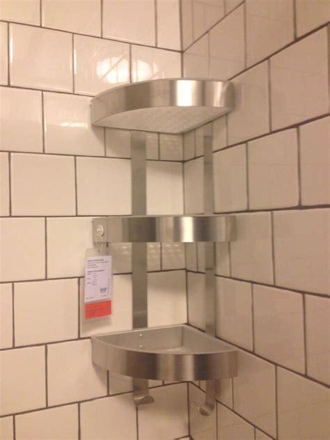ikea shower grundtal corner wall shelf unit stainless