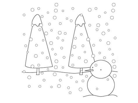 imagenes de navidad con nieve paisaje con nieve para colorear dibujos de navidad