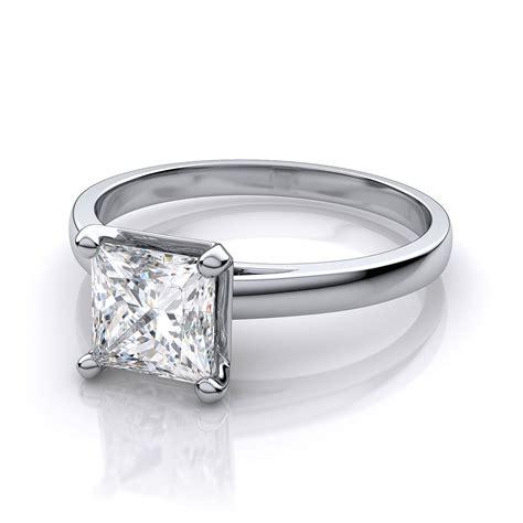 1 carat cathedral princess cut engagement