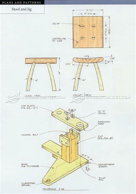 small stool plans woodarchivist