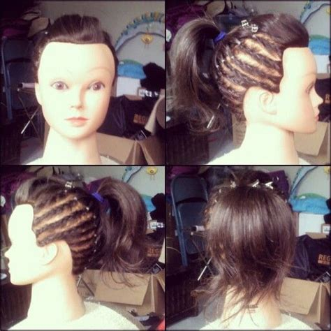 hairstyles to do on manikin manikin frenchbraid underhand cornrow bump ponytail