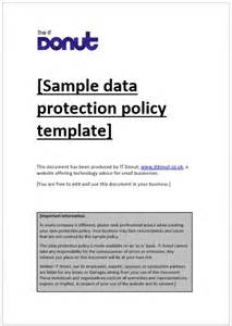 Data Privacy Policy Template by Sle Website Privacy Policy Template It Donut 2017
