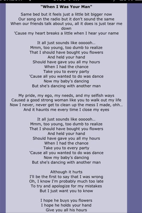 download mp3 bruno mars i wanna be a billionaire bruno mars s song quot when i was your man quot lyrics bruno