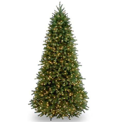 home depot garden club fraser fir national tree company 6 5 ft jersey fraser fir slim artificial tree with clear lights
