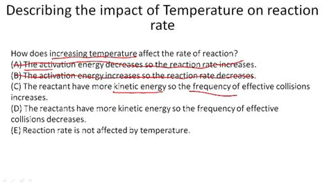 tutorial questions on rate of reaction factors impacting rates of reactions exle 4