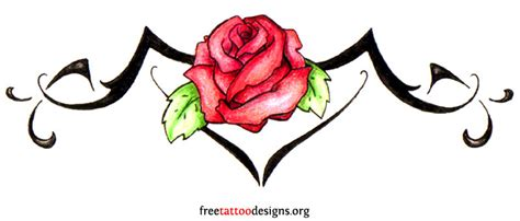 rose tattoos for lower back tribal designs with roses tribal with designs