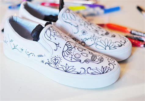diy custom shoes misyelle store diy sugar skull day of the dead vans