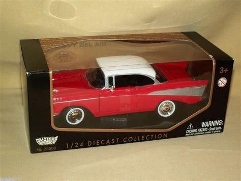 Diecast Chevrolet Bel Air 1957 Matchbox Collectibles Skala 1 43 motormax diecast replica 1957 chevy chevrolet bel air 73200 1 24 white new motormax