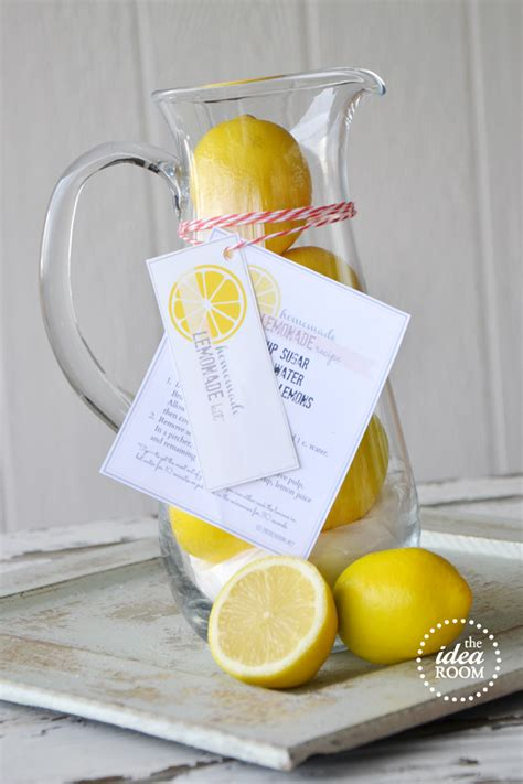Handmade Lemonade - lemonade gift kit and printables the idea room