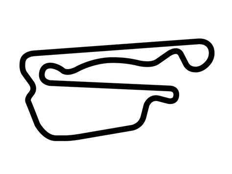 Track Outline by Motorsports Park Optional Course Decal Trackdecals