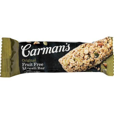 Muesli Free carman s original fruit free muesli bars 6pk 270g woolworths