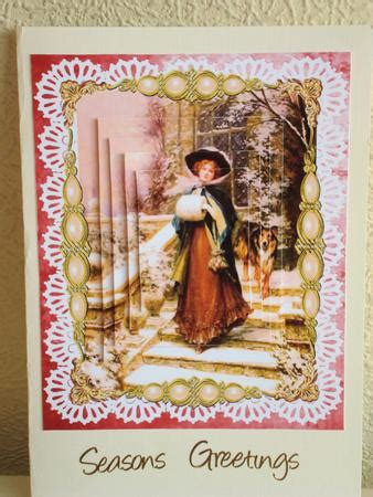 home  christmas victorian style pyramid card cup craftsuprint