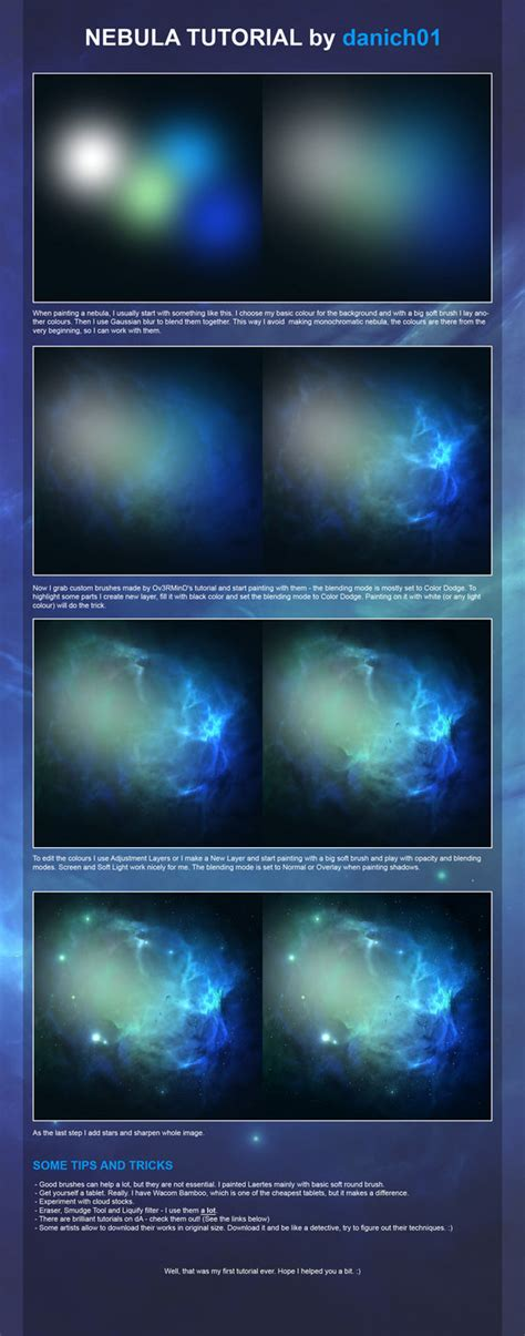 watercolor nebula tutorial nebula tutorial by danich01 on deviantart