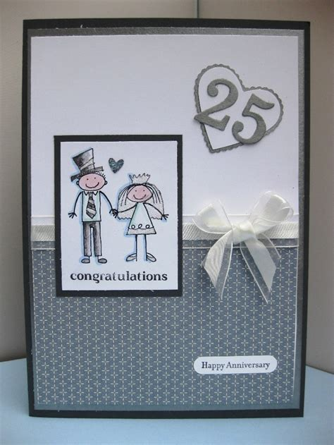 Handmade Silver Wedding Anniversary Cards - 110 best cards wedding anniversary images on