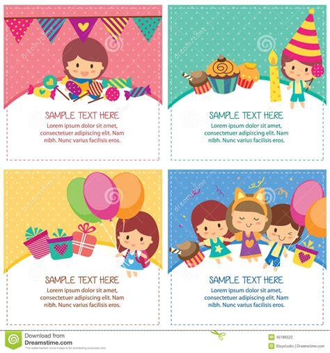 layout design for birthday kids birthday design layout stock vector image 45186522