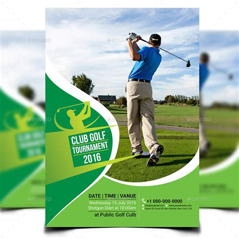 Golf Tournament Flyer Template By Aam360 Graphicriver Golf Design Template
