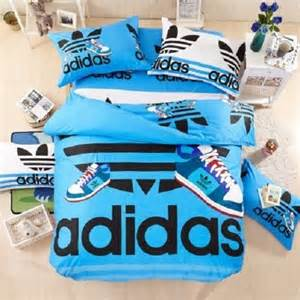 Blue Queen Duvet Queen Size Blue Adidas Duvet Cover Bedding Set Boys Girls