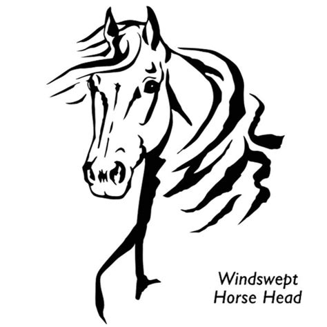 horse tribal tattoos windswept decal back in the saddle