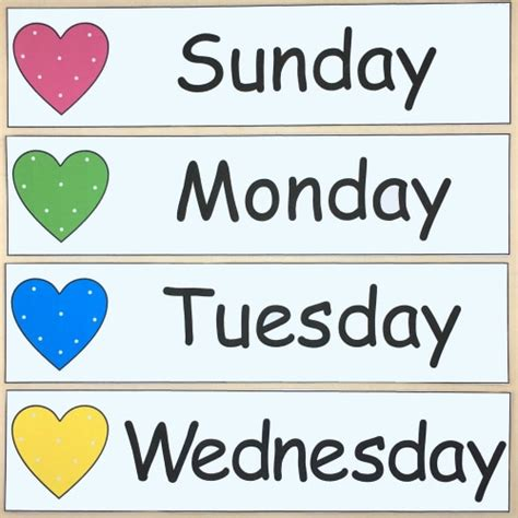 theme names for days of the week number names worksheets 187 preschool days of the week