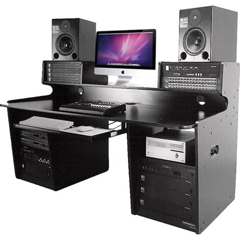 omnirax presto 4 studio desk black omnirax prostation audio editing workstation ps b b h