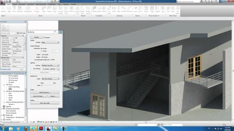 autodesk revit tutorial videos autodesk revit tutorials 20 rendering the house youtube