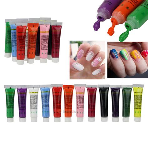 acrylic paint for nail 12 colors 3d nail paint draw painting