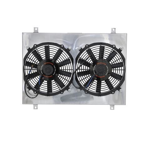dual heater and fan mishimoto electric radiator fan dual 12 quot with shroud 1979