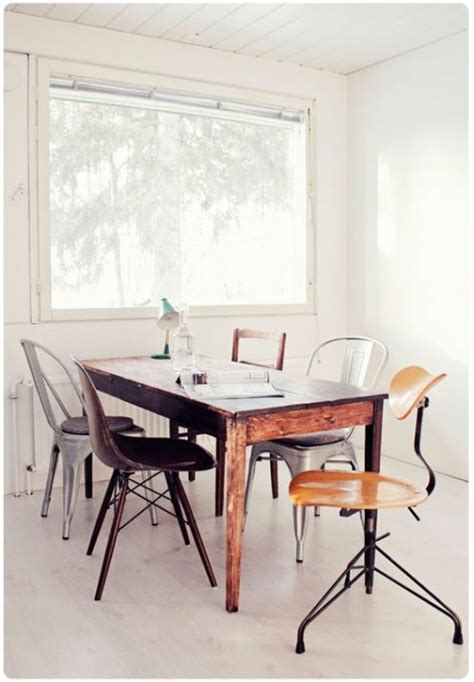 37 ideas to use mixed dining chairs in dining rooms