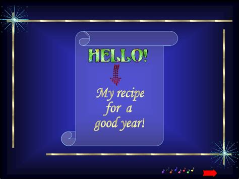 happy new year recipe recipe for a year happy new year