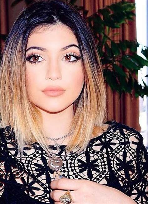 how to kylie jenner short hair 20 short hairstyles with ombre color short hairstyles