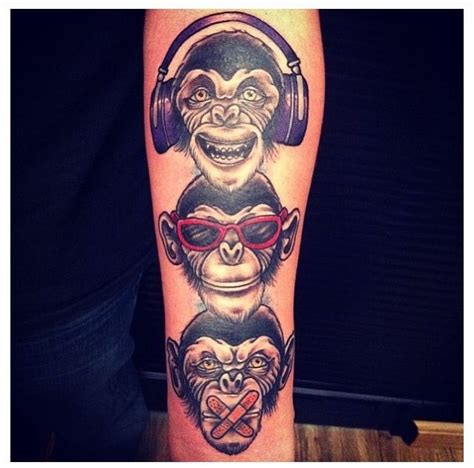 evil monkey tattoo designs 9 best images about hear no evil see no evil speak no evil